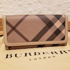 Burberry Smoked Check Continental Wallet-Penrose